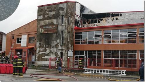 Incendio Mercado Municipal de Ancud